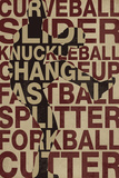 Baseball Pitches Affiches