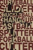 Baseball Pitches Kunstdrucke
