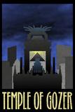 Temple of Gozer Retro Travel Poster Poster
