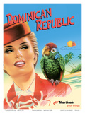 Dominican Republic - Martinair Posters par Inc., Pacifica Island Art
