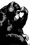 Steez Monkey Thinker BW Pôsters