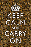Keep Calm and Carry On Leopard Print Poster 高画質プリント