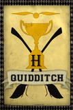 Quidditch Champions House Trophy Yellow Movie Poster Print Plakater