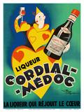 Cordial Médoc Liqueur - The Liquor Which Rejoices the Heart Posters af Henry Le Monnier
