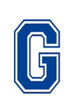 Varsity Letter G Make Your Own Banner Sign Poster Planscher