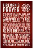 A Fireman's Prayer Art Print Poster Láminas