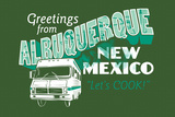 Greetings From Albuquerque New Mexico Snorg Tees Poster Poster von  Snorg