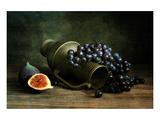 Naturaleza muerta con uvas Láminas