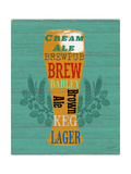 Pint Glass of Beer Posters par Sam Appleman