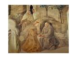 The Reform of the Carmelite Rule, Detail of Four Carmelite Friars, C.1422 Giclée-tryk af Fra Filippo Lippi