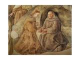The Reform of the Carmelite Rule, Detail of Two Carmelite Friars, C.1422 Giclée-tryk af Fra Filippo Lippi