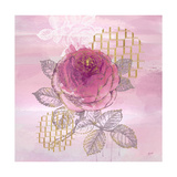 Botanical Reverie Square Premium Giclee-trykk av Bella Dos Santos