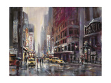Manhattan Rain Posters af Brent Heighton