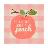 Gingham Peach Affiches par Lola Bryant