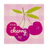 Gingham Cherry Posters par Lola Bryant