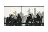 NY Café Conversation Posters by Norman Wyatt Jr.