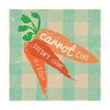 Gingham Carrot Poster par Lola Bryant