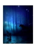 Mystic Forest Art by Julie Fain
