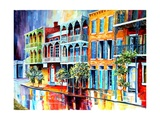 Rain in Old New Orleans Prints by Diane Millsap