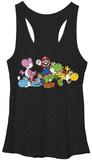 Juniors Tank Top: Super Mario- Group Yoshi Womens Tank Tops