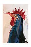 The Blue Rooster Lámina por Rabi Khan
