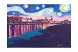Starry Night in Dresden - Van Gogh Inspirations Affiches par Markus Bleichner