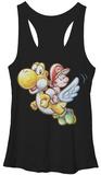 Juniors Tank Top: Super Mario- Flying Yoshi Womens Tank Tops