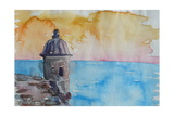 Puerto Rico Seaview from Fort El Morro Posters par Markus Bleichner