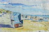 German Island feeling on Sylt with Strandkorb Art par Markus Bleichner