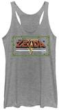 Juniors Tank Top: Legend Of Zelda- Pixel Classic Womens Tank Tops