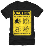 Super Mario- Caution Approach Carefully T-skjorte