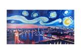Starry Night in London - Skyline with Big Ben Art par Markus Bleichner