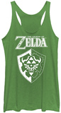 Juniors Tank Top: Legend Of Zelda- Links Shield Regatas femininas