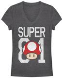 Women's: Super Mario- Super Power Up V-Neck T-shirt con collo a V