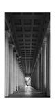 Soldier Field Colonnade Chicago BW Fotografisk trykk av Steve Gadomski