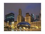 Chicago At Night Fotografisk tryk af Patrick Warneka
