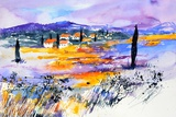 Provence 5170 Watercolor Prints by Pol Ledent
