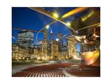 Millennium Park  Outdoor Theater At Night Fotografisk tryk af Patrick Warneka