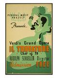 Verdi Grand Opera Il Trovatore Poster