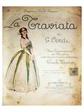 Verdi Opera La Traviata Kunstdrucke