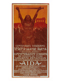 Verdi Opera Aida in Verona Julisteet