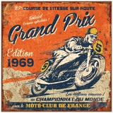 Grand Prix 1969 Print by Bruno Pozzo