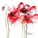 Watercolor Poppies I Art by Leticia Herrera