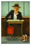 2 in a cafe shop Posters av Steven Lamb