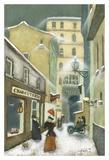 Street in Quebec 1912 Posters av Steven Lamb