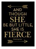 Fierce Shakespeare Arrows Golden Black Affiches par Amy Brinkman