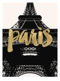 Paris Eiffel Tower Golden Posters par Amy Brinkman