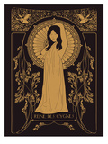 Reine Des Cygnes Golden Kunst af Florent Bodart