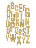 Alphabet Golden White Affiches par Amy Brinkman