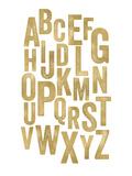 Alphabet Golden White Posters tekijänä Amy Brinkman